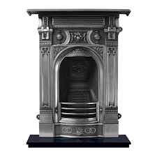 victorian carron small combination cast iron fire full suite polished restoration vintage mantel electric logs marble
