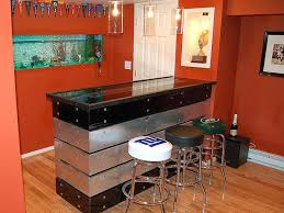 basement bar furniture. Modern Bar Idea For Basement With Cool Leather Chairs And Glass Top  Table A Furniture
