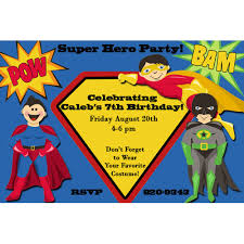 superheroes birthday party invitations superhero birthday party invitations wblqual com