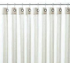 ticking stripe shower curtain red and white striped curtains home design ideas w pottery barn ruffled