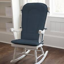 109 00 solid navy rocking chair pad