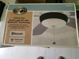 hampton bay 2 light matte white ceiling fan bluethooth speaker light kit for