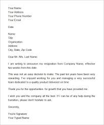 How To Write 2 Week Notice 40 Two Weeks Notice Letters Resignation Letter Templates