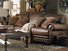 The Callahan Sofa by Bassett Furniture features extra length and