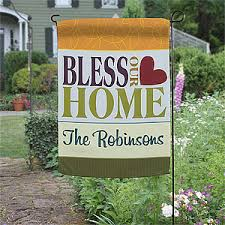 garden flags. Bless This Home Personalized Garden Flag - On Sale Today! Flags E