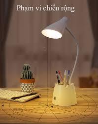 Đèn Bàn Học Đọc Sách LED Chống Cận 03 Chế Độ Ánh Sáng Bảo Vệ Mắt Có Hộp Bút  Và Giá Để Điện Thoại eLights - Đèn bàn