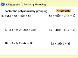 How To Factor A Cubic 6 5 Factoring Cubic Polynomials Pptx Powerpoint