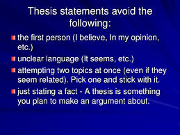 thesis statement ppt thesis statements