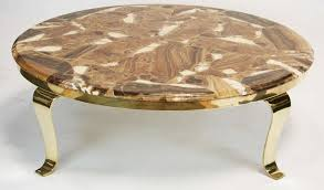 wonderful onyx coffee table on brass base by muller s of mexico great color to the