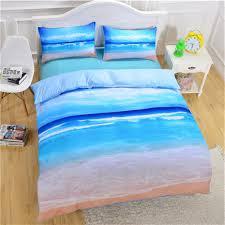 beach ocean pattern printing bedding sets duvet cover pillow cases bed set style beach ocean