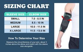 Doc Miller Size Chart Doc Miller Elbow Compression Brace Sleeve And 50 Similar Items