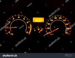 Yellow Light On Speedometer Car Speedometer On Idle Yellow Orange Stock Photo Edit Now