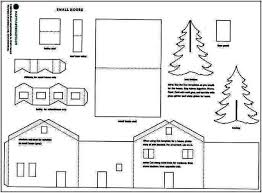 christmas house template martha stewart winter village template photo