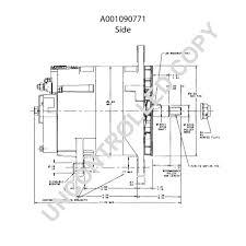prestolite leece neville a001090771 side dim drawing output curve a001090771 output curve wiring diagram