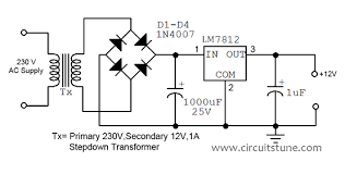 wiring diagram ref 12v fixed voltage power supply circuit diagram 12 volt power supply circuit
