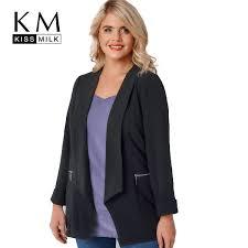 2019 Wholesale <b>Kissmilk 2017 Plus</b> Size Solid Black Office Lady ...