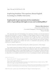 Pdf Exploring Students Perceptions About English Learning In A