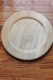 wood stained charger plate plates chargers rustic wedding inside decorations 17
