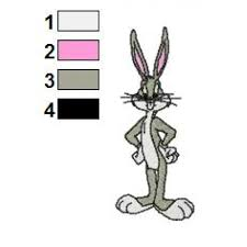 Bugs Bunny Embroidery Designs Looney Tunes Bugs Bunny 01 Embroidery Design