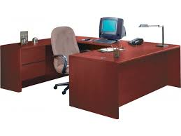 hon u shaped office desk w left pedestal credenza