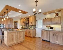 Inspiration For A Contemporary L Shaped Kitchen Remodel In San Francisco  With Light Wood Cabinets