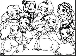 Free Printable Disney Baby Coloring Pages Princess All Princesses