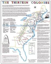 the thirteen colonies map  maps for the classroom