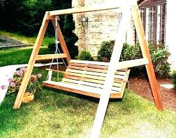 media title free standing metal porch swing rch frame ideas wooden swings with stand wood best lawn on garden seat outdoor baby plans description empty id