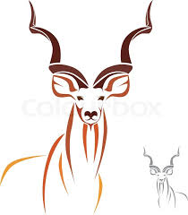 Small Picture Vector image of an kudu Stock Vector Colourbox