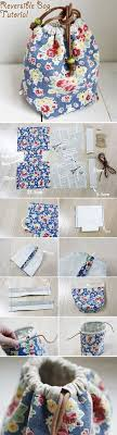 diy reversible drawstring bag tutorial