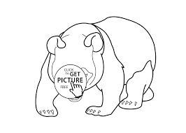 Small Picture Panda bear animals coloring pages for kids printable free