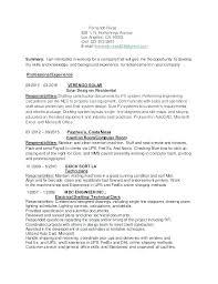 Resume Objective For It Job Unique Restaurant Cashier Resume Resume Examples For Restaurant Jobs
