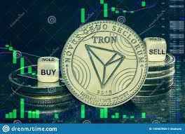 Tron Crypto Chart Coin Cryptocurrency Trx Tron Stack Of Coins And Dice