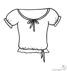 Disegno Di Maglietta Da Colorare Per Bambini