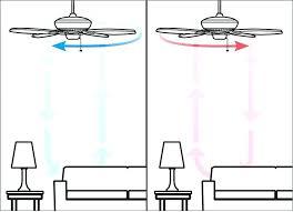 ceiling fan direction summer ceiling fan direction summer winter high ceilings