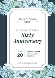 Anniversary Template Make Your Own Anniversary Invitations Online Fotojet