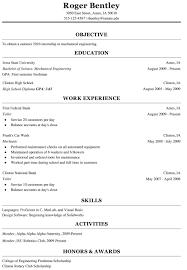 Resume Templates Functional For College Singular Student Freshmen