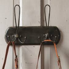 distressed black metal double hanger coat rack vintage wall hooks home design modern