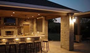 outdoor living room by prestige pools in frisco