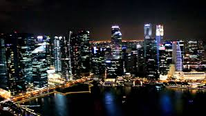 Marina Bay Sands Hotel Singapore Infinity Pool Nightview YouTube