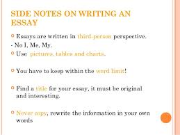 how to write a science essay 17 side notes on writing an essay