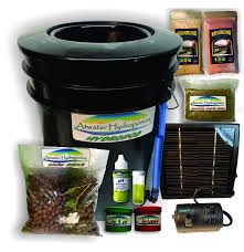 com the aer hydropod solar powered dwc deep water culture hydroponic garden kit system bubble bucket bubbleponics grow your own start