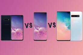 Galaxy Comparison Chart Samsung Galaxy S10 Vs S10 Vs S10e Vs S10 5g Range Compared