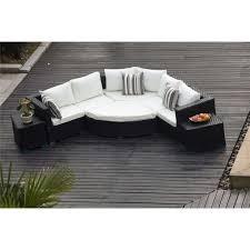 yakoe rattan furniture half moon sofa