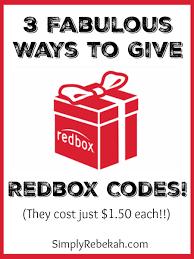 3 Fabulous Ways to Give Redbox Codes - Simply Rebekah