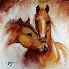 pals equine art original oil painting by marcia baldwin