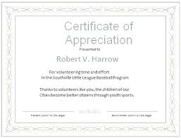 Thank You Certificates Templates Sample Certificate For