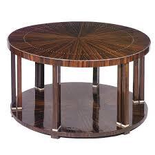 art deco coffee table macassar ebony round tb109a by jacques emile ruhlmann