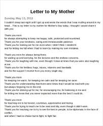 Thank You Mom Letter All About Letter Examples