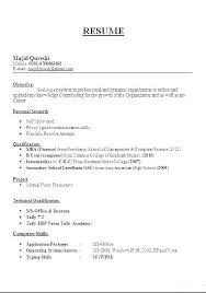 Sample Resume Format For Teachers Sample Resumes For T Simple Sample